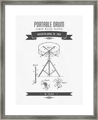 1903 Portable Drum Patent Drawing Framed Print