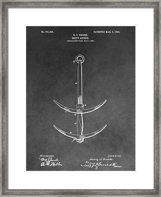 1903 Ship's Anchor Framed Print