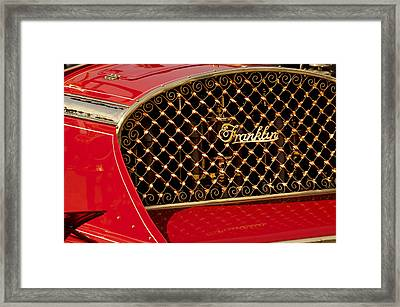 1904 Franklin Open Four Seater Grille Emblem Framed Print by Jill Reger