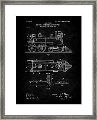 1904 Locomotive Patent Art-bk Framed Print by Barry Jones