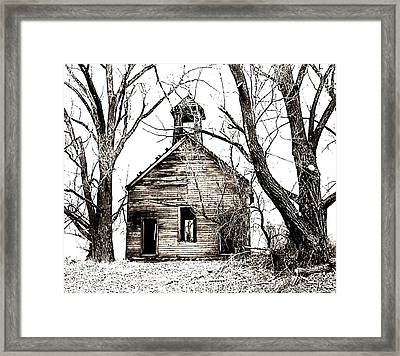 1904 School House Memory Framed Print