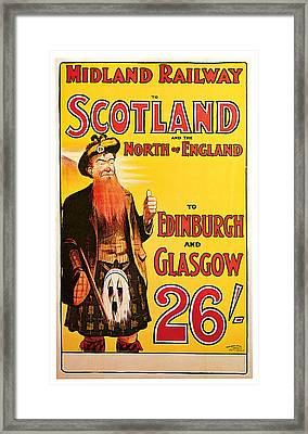 1904 Scotland - Vintage Travel Art Framed Print by Presented By American Classic Art