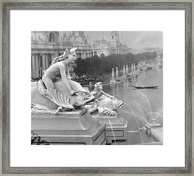 1904 World's Fair Fisheries Sculptures Vintage Photograph Framed Print