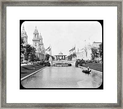 1904 Worlds Fair Lagoon And Electricity Building Framed Print