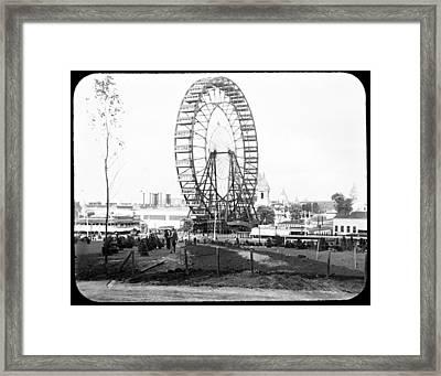1904 Worlds Fair Observations Wheel Ferris Wheel Framed Print