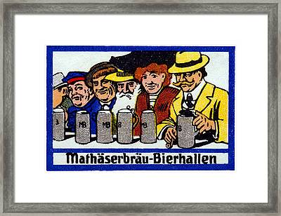 1905 Berlin Beer Hall Framed Print by Historic Image
