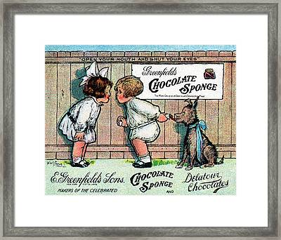 1905 Chocolate Candy Ad Framed Print by Historic Image