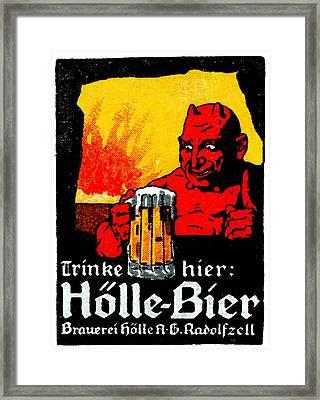 1905 German Beer Poster Framed Print