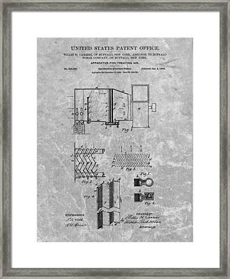 1906 Air Conditioning Unit Patent Framed Print by Dan Sproul