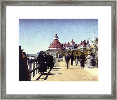 1906 Del Boardwalk Framed Print