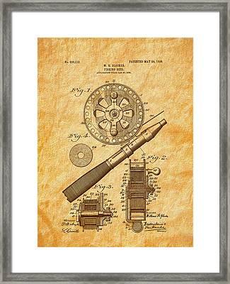 1906 Glocker Fishing Reel Patent Framed Print by Barry Jones