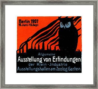 1907 Berlin Exposition Poster Framed Print