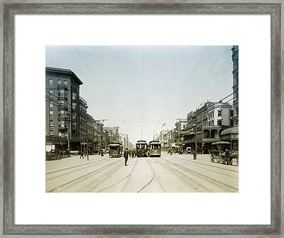 1907 Canal Street New Orleans Framed Print by Bill Cannon