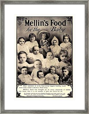 1907 - Mellins Baby Food Advertisement Framed Print by John Madison