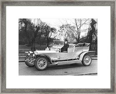 1907 Rolls-royce Silver Ghost Framed Print by Underwood Archives