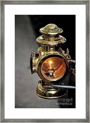 1907 Stanley Steamer - Sidelight Framed Print