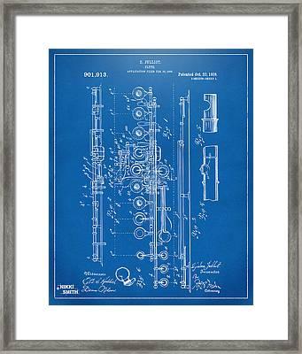 1908 Flute Patent - Blueprint Framed Print