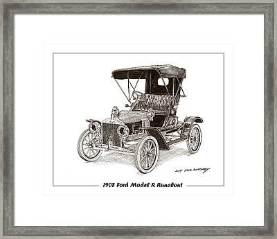 1908 Ford Model R Runabout Framed Print by Jack Pumphrey