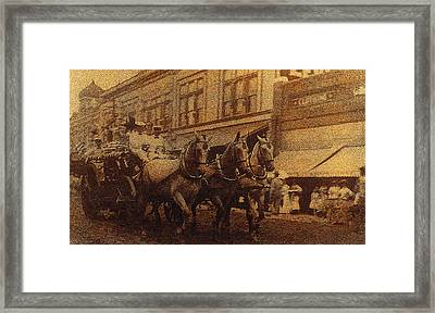 1908 Nickel-plated  Nott Steamer Fire Truck July 4th Parade East Congress Tucson Arizona 1909-2009 Framed Print by David Lee Guss
