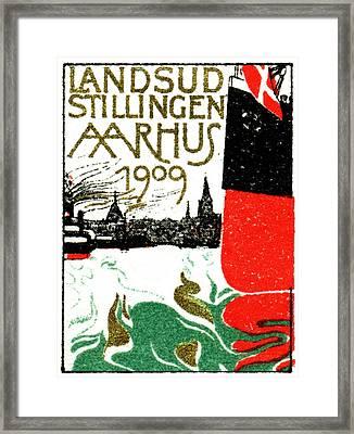 1909 Arhus Denmark Expo Poster Framed Print