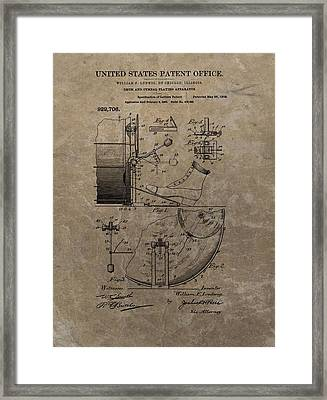 1909 Drum Patent Framed Print by Dan Sproul