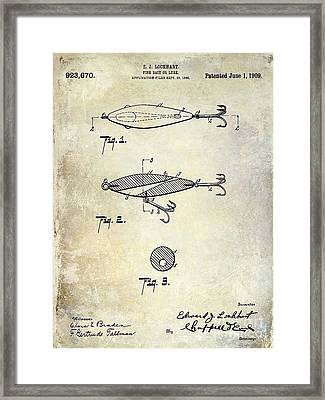 1909 Fishing Lure Patent Drawing Framed Print