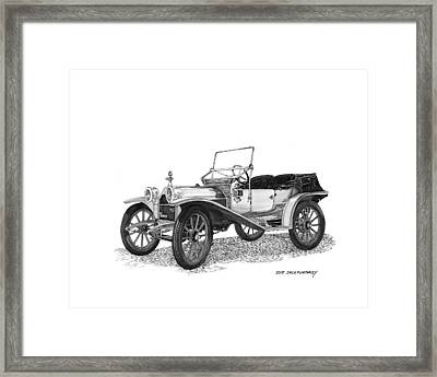 1909 Hupp Model 20 Roadster Framed Print