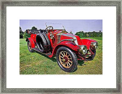 1909-renault Type A-1 Torpedo Framed Print by Marcia Colelli