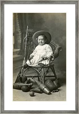 1910 American Tomboy Framed Print by Historic Image