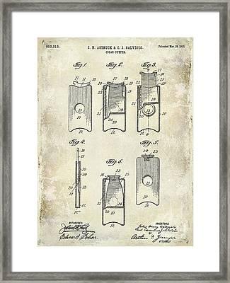 1910 Cigar Cutter Patent Drawing Framed Print