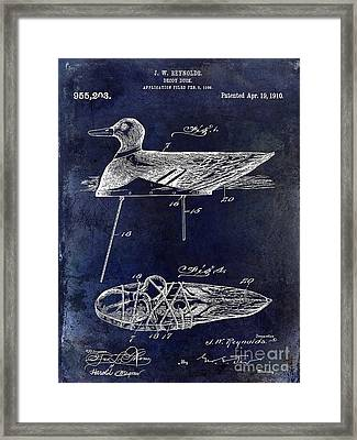 1910 Duck Decoy Patent Drawing Framed Print