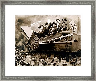 1910 Flight Over Portland Framed Print by Historic Image