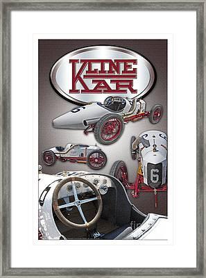 1910 Kline Kar Framed Print by Ed Dooley