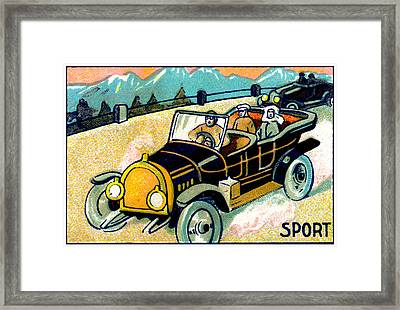 1910 Sport Of Racing Cars Framed Print by Historic Image
