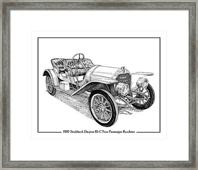 1910 Stoddard Dayton 10 C Roadster Framed Print by Jack Pumphrey