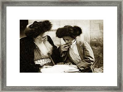 1910 Studying The Torah Framed Print by Historic Image