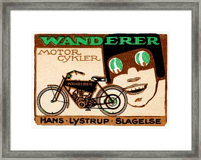 1910 Wanderer Motorcycle Framed Print by Historic Image