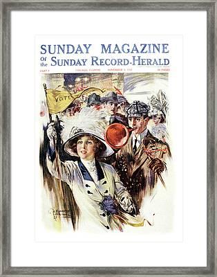 1910s 1912 Cover Sunday Magazine Framed Print
