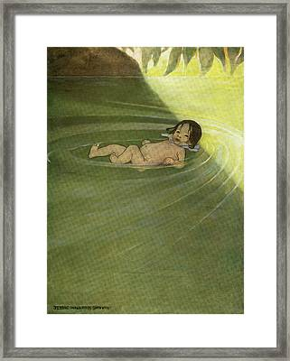 1910s 1916 Illustration From The Water Framed Print