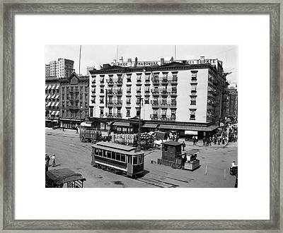 1910s 1916 The Eastern Hotel With An Framed Print