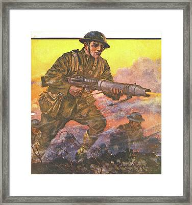 1910s 1918 Painting Titled The Man Framed Print