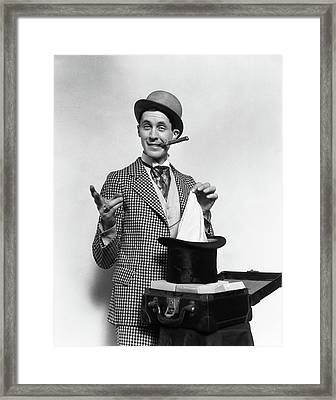 1910s 1920s Character Con Man Magician Framed Print