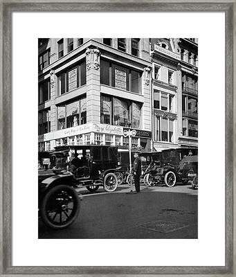 1910s A Policeman Controls Traffic Framed Print