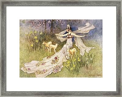 1910s Illustration Fairy Tale The Fairy Framed Print
