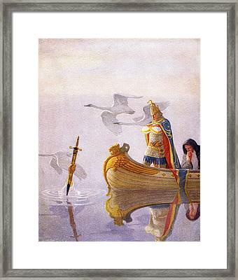 1910s King Arthur Sword Of Power Framed Print