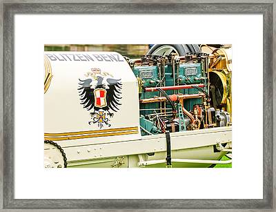 1911 Benz 200 Hp  - Blitzen Benz Engine2 Framed Print