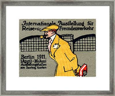 1911 Berlin International Travel Expo Framed Print by Historic Image
