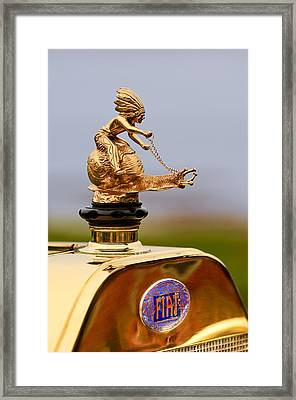 1911 Fiat Tipo 6 Holbrook 4 Passenger Demi-tonneau Hood Ornament Framed Print