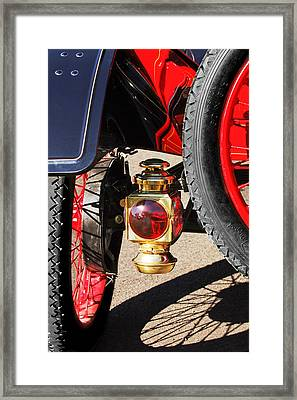 1911 Ford Model T Torpedo 4 Cylinder 25 Hp Taillight Framed Print