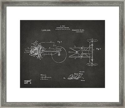 1911 Henry Ford Transmission Patent Gray Framed Print